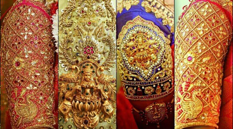 Latest South Indian Bridal blouse design Ideas || Embroidery, maggam, Zardosi work designs