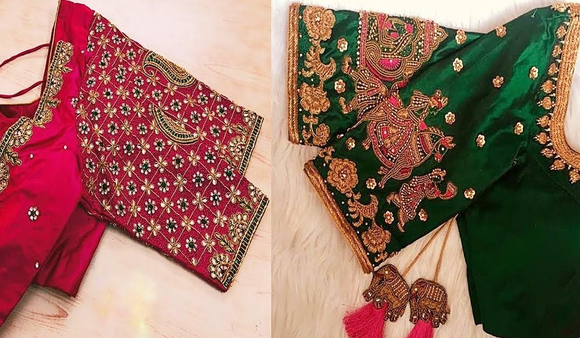 Beautiful Embroidery Work Blouse Designs Wedding Season Collection Aari Work Maggam Work Blouse Designs,Beautiful Phoenix Tattoo Designs For Women
