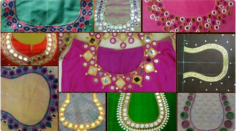 Latest Mirror work Blouse designs // trending embroidery blouse designs