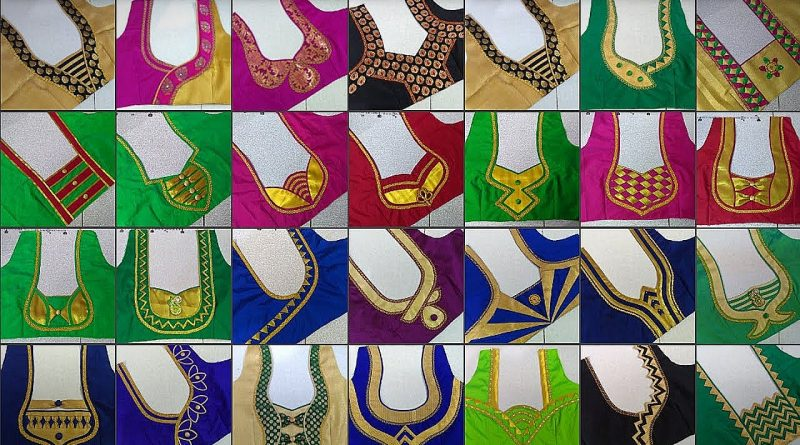 patch work blouse designs simple