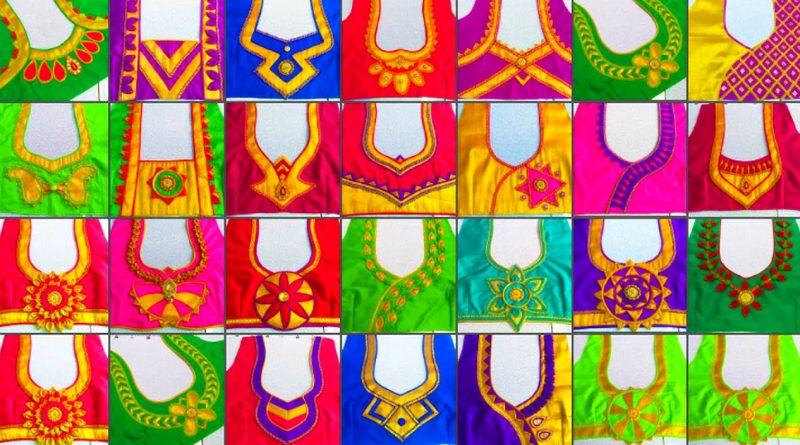 25 Beautiful back neck blouse designs    fashion blouse designs