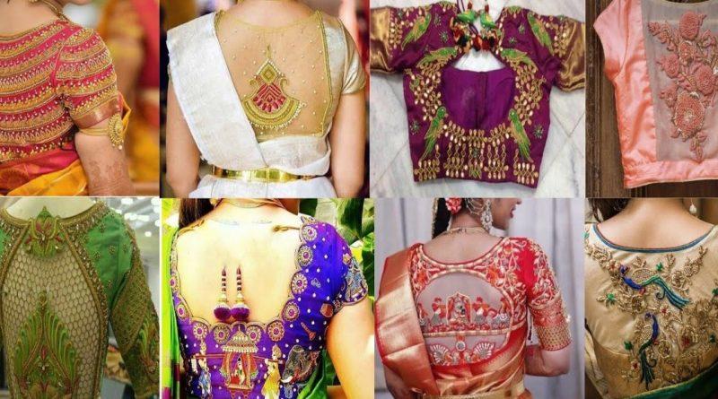 Beautiful Aari work blouse designs – Maggam Blouse Designs