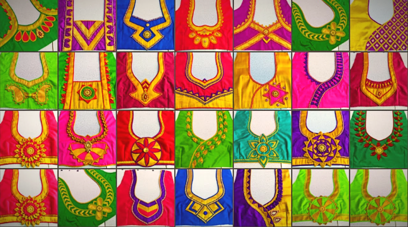 25 Beautiful back neck blouse designs / Designer Blouses