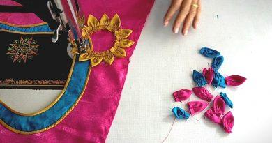 Beautiful Flower Style blouse design  cutting and stitching