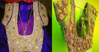 Top 20 Bridal Heavy Aari Kundan Work Blouse Designs
