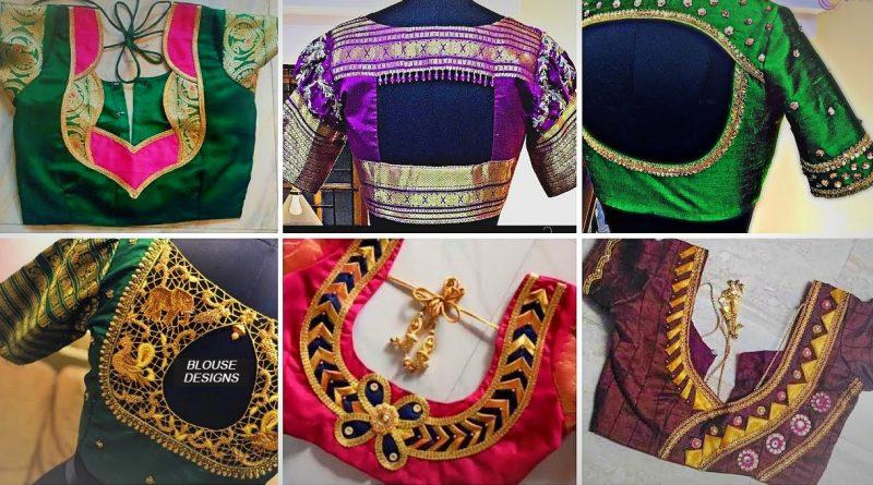 Latest Silk Blouse Designs   New Blouse Back Neck Designs