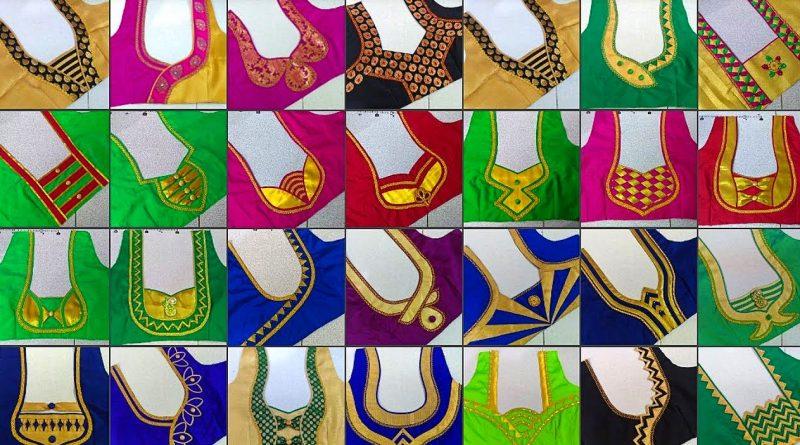 20 Simple back neck blouse designs    Blouse Designs