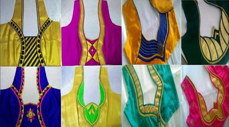 28+Beautiful back neck blouse designs  || Women's fashion blouses