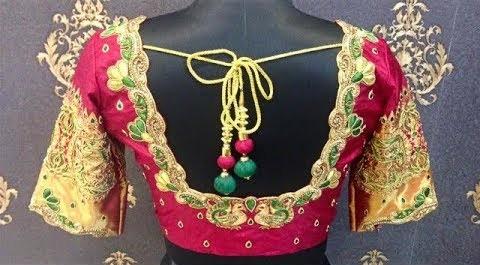 Latest Beautiful Zari Work Blouse Designs