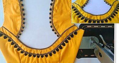 Model blouse gala dori back neck design cutting and stitching/blouse design