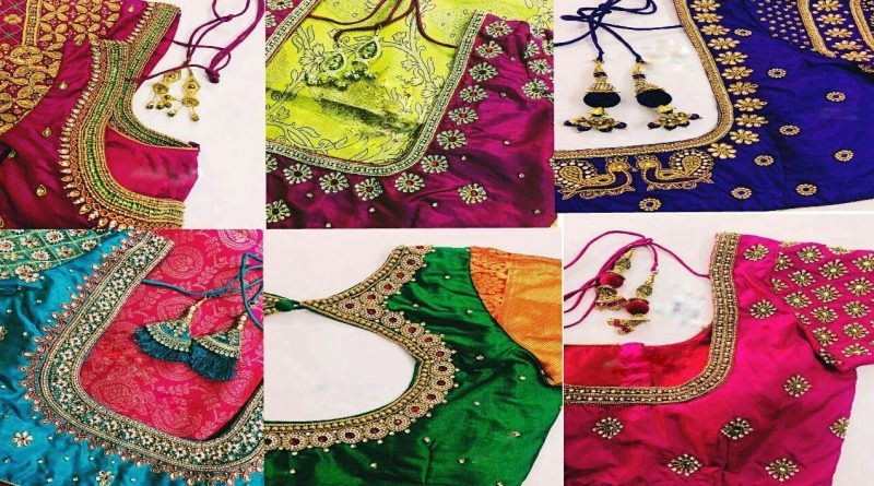 Simple aari work blouse designs collections
