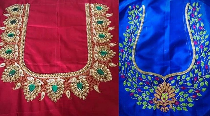 Simple Aari Work Blouse Designs – Blouse Designs