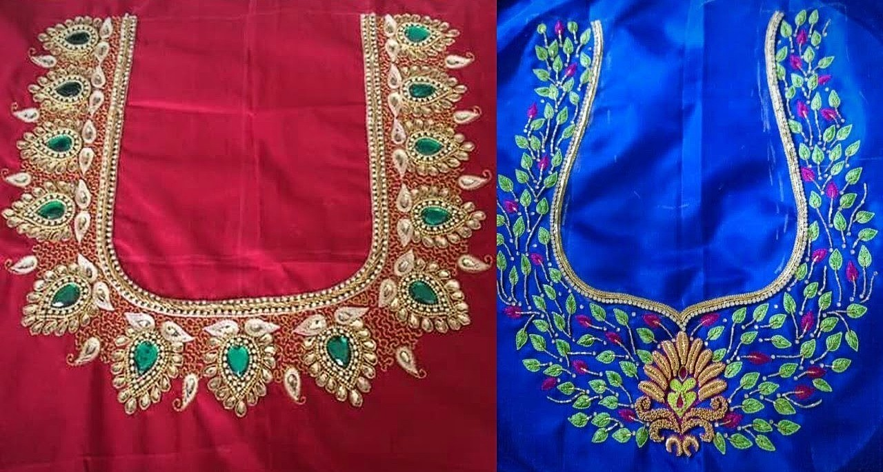 Simple Aari Work Blouse Designs Blouse Designs Blouse Designs,Gorgeous Lehenga Blouse Designs 2020 For Girl