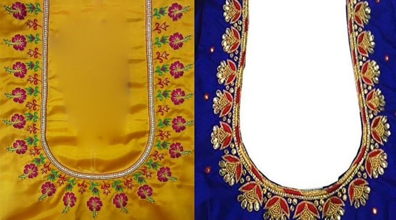 Latest Thread Embroidery Work Blouse Designs | Computer Embroidery