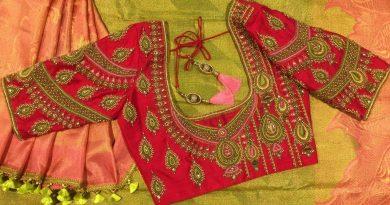 Full Heavy Bridal Work Blouse Designs Latest