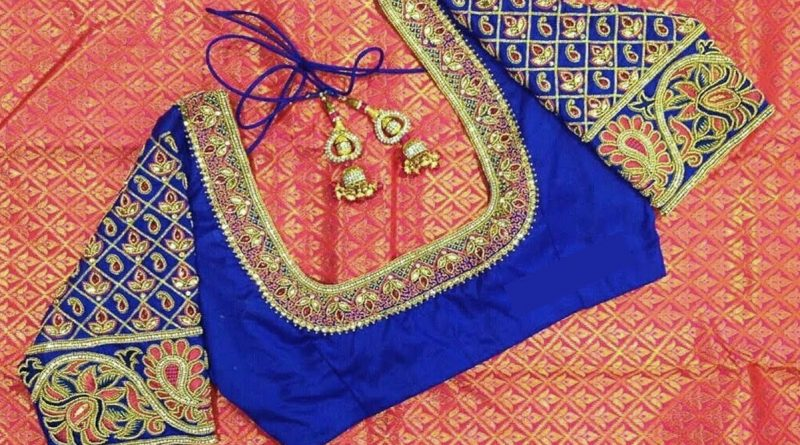 Latest Indian maggam work blouse designs