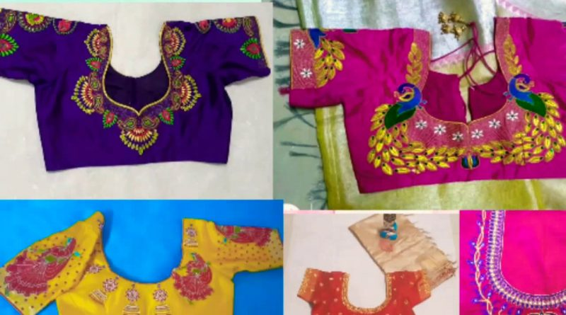 Latest Computer Embroidery Blouse Designs |Blouse Designs