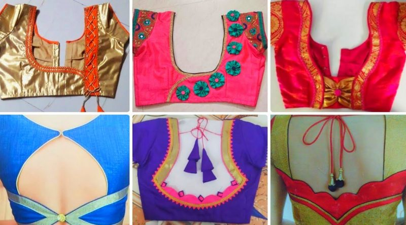 New Simple Silk Blouse Designs   Latest Silk Blouse Designs – Blouse Designs