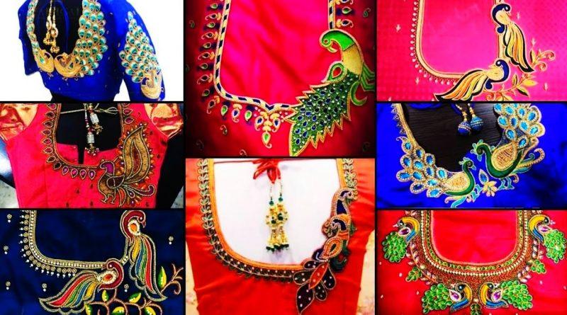 Peacock Model Aari Blouse Designs | Maggam work Blouse Designs Peacock – Blouse designs