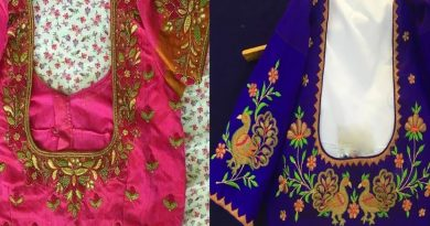 Beautiful Thread Embroidery Work Blouse Designs For Silk Saree | Blouse Designs