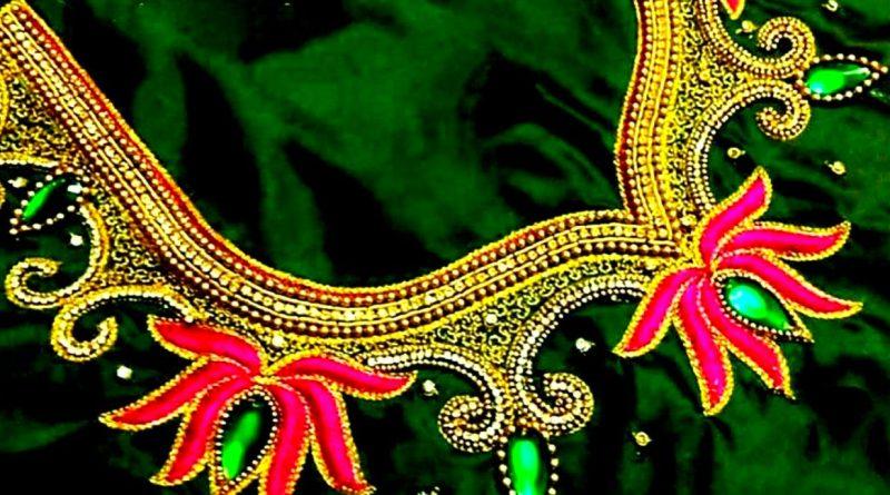 Latest Lotus maggam work Blouse Designs/ aari work blouse designs