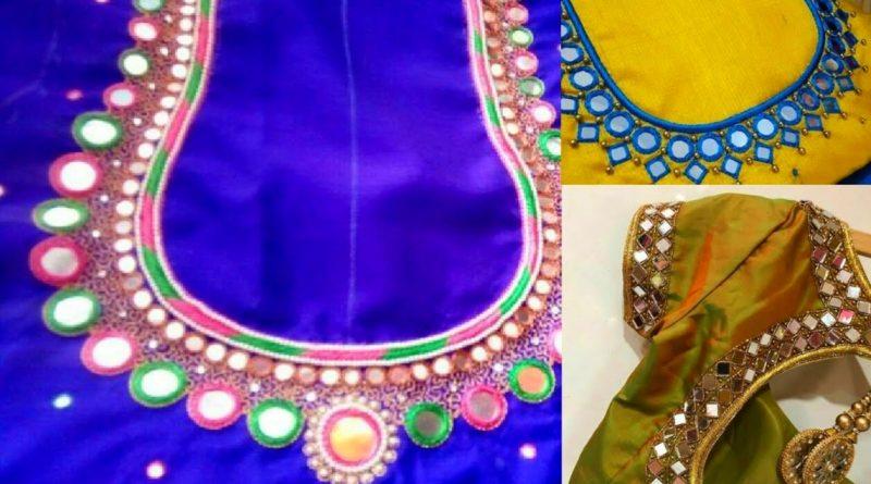 Latest Mirror work blouse designs  – Blouse Designs