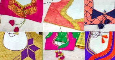 Latest Blouse Back Neck Design Patterns| Blouse Designs