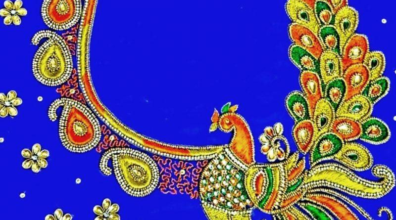 Beautiful Peacock Blouse Designs / Maggam work blouse designs