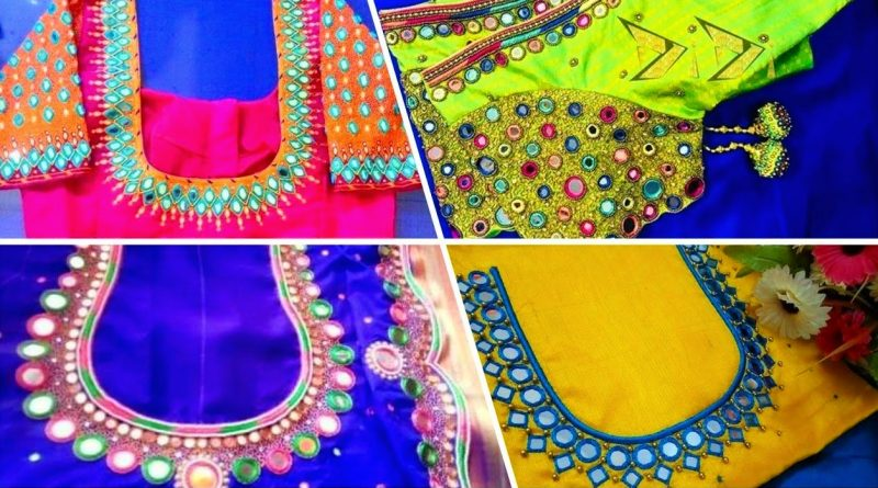 Latest mirror work blouse designs – Blouse Designs
