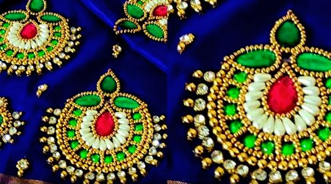 Maggam work Blouse design with Beads Stitch – Blouse Designs