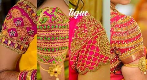 Latest Simple Maggam work Blouse Designs | Aari Maggam work blouse designs – Blouse Designs