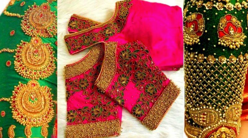 New latest Bridal Blouse Designs Maggam work|| New aari work wedding Blouse designs – Blouse Designs