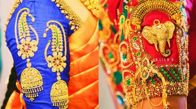 Latest Wedding Aari Work Blouse Designs | Maggam work on hand blouse – Blouse Designs