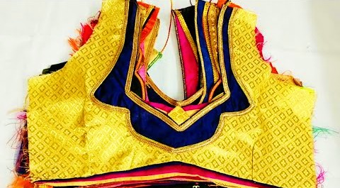 So Beautiful patchwork blouse designs pattern / Blouse designs – Blouse Designs