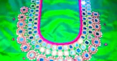 Latest MIRROR WORK DESIGN  mirror work blouse design – Blouse Designs
