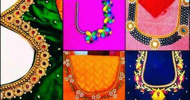 Simple Maggam work blouse Designs | Aari Work Blouse Designs Photos  – Blouse Designs