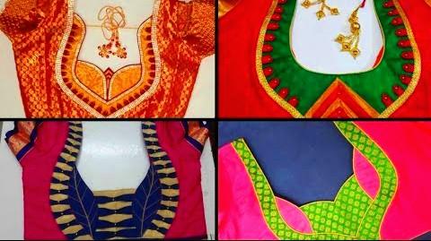 Latest Patch Work Blouse Back Neck | Blouse Patterns Work Designs – Blouse Designs