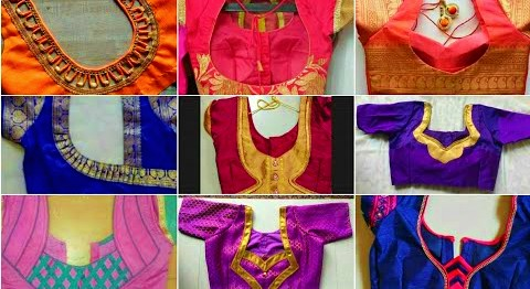 Latest Patch Work Blouse Designs || Easy Blouse Back Neck Design – Blouse Designs
