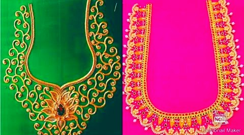 Latest Aari Work Blouse Designs / Maggam work Blouse Designs – Blouse Designs