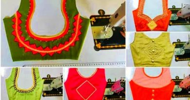 Latest New Patch Work Blouse Back Neck Designs – Blouse Designs