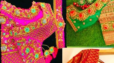 Latest bridal Blouse designs Maggam work Blouse designs  – Blouse Designs
