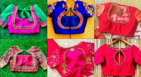 Heavy Embroidery Back Neck Blouse Designs Latest – Blouse Designs
