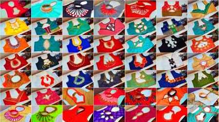 Beautiful Collar Blouse Designs / Blouse Back Neck Designs – Blouse Designs