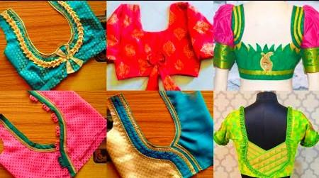 Silk Saree Blouse Back Neck Designs Latest – Blouse Designs