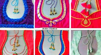 Latest New Patch Work Blouse Designs / Back Neck Blouse Designs – Blouse Designs