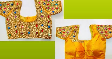 Easy  Method of Stitching Heavy Maggam Work  Blouse Designs – Blouse Designs