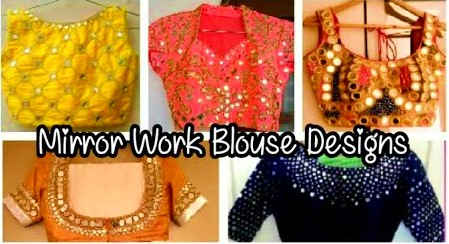 Latest Stylish Mirror Work Blouse Designs – Blouse Designs
