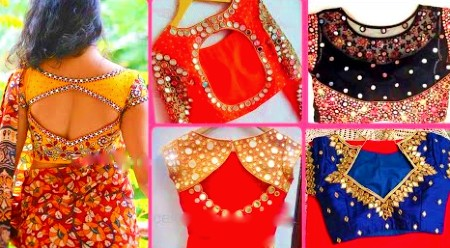 Latest Mirror Work Blouse Designs For Diwali – Blouse Designs