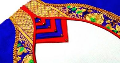 Paithani Saree Blouse Back Neck Design Cutting and Stitching – Blouse Designs