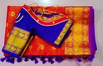 Beautiful Back Neck Paithani Blouse Cutting and Stitching – Blouse Designs